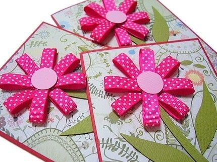 ribbon flower card