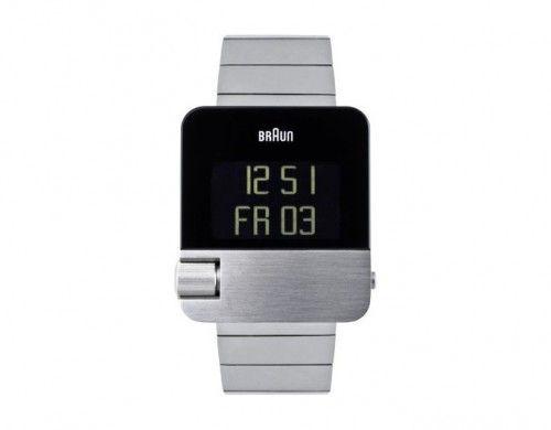 braun men's square digital 106 watch
