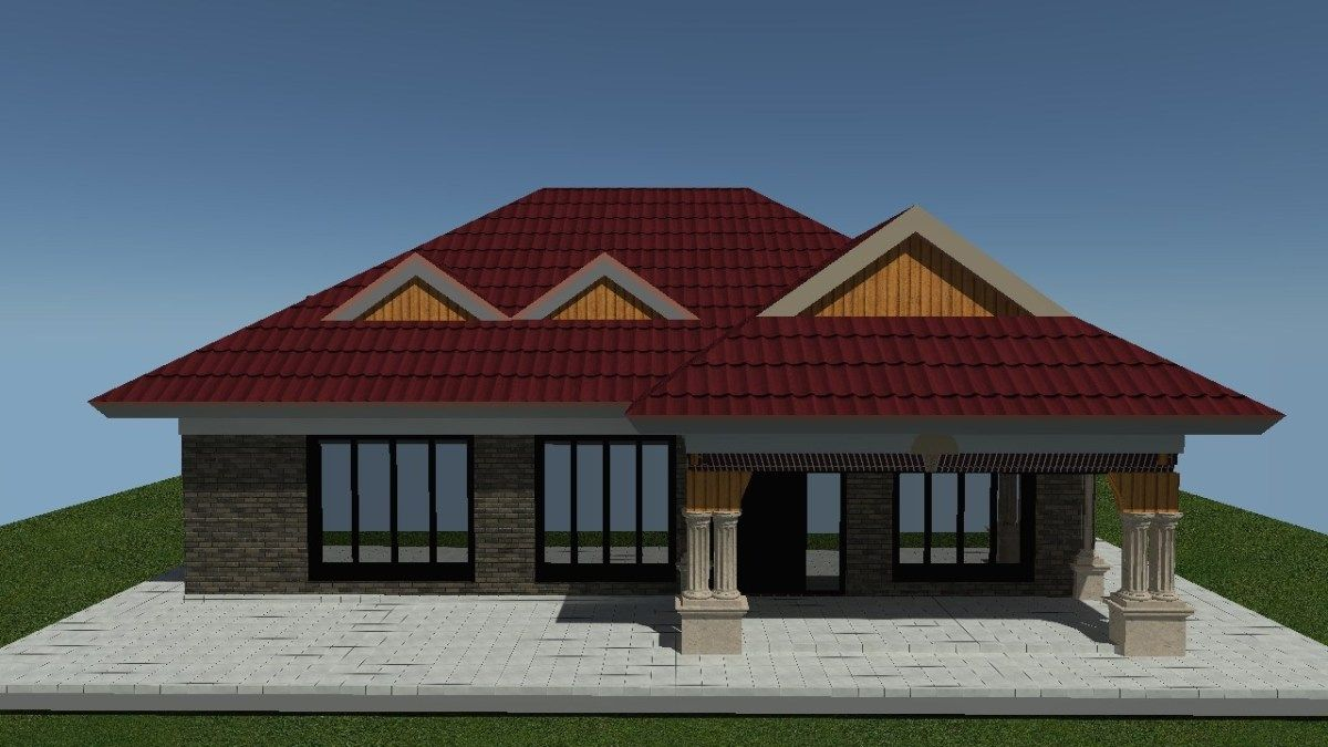3 Bedroom House Plan For A Budget Muthurwa Com Bedroom House Plans Low Cost House Plans Simple House Plans