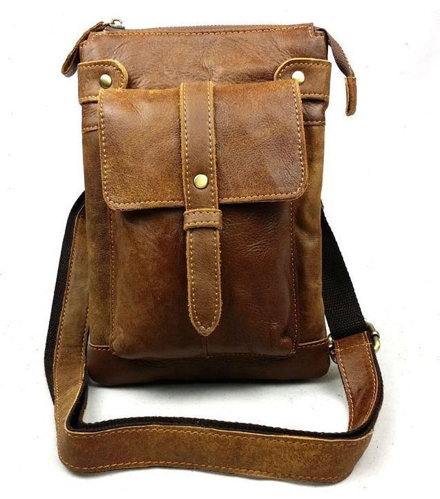Men s Fashion Genuine Leather Shoulder Messenger Casual Satchel Business Bag   QY8711  MessengerShoulderBag bbb2d583792ef