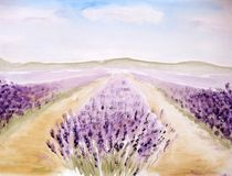 Buy Lavender Landscape Painting Posters & Lavender Landscape Painting Art Prints online - ARTFLAKES.COM