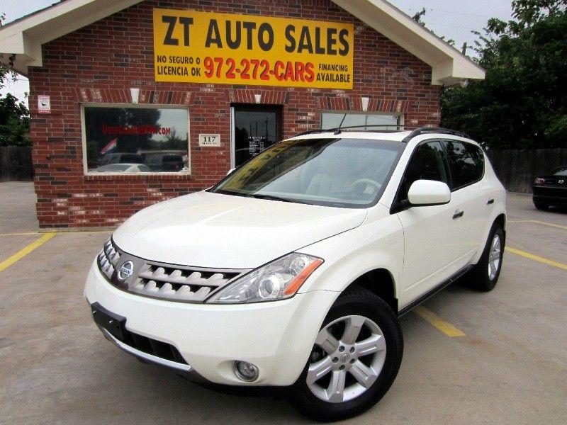 White 2007 Nissan Murano $9,995 S Navigation Sunroof 4 Doors, Front Wheel  Drive