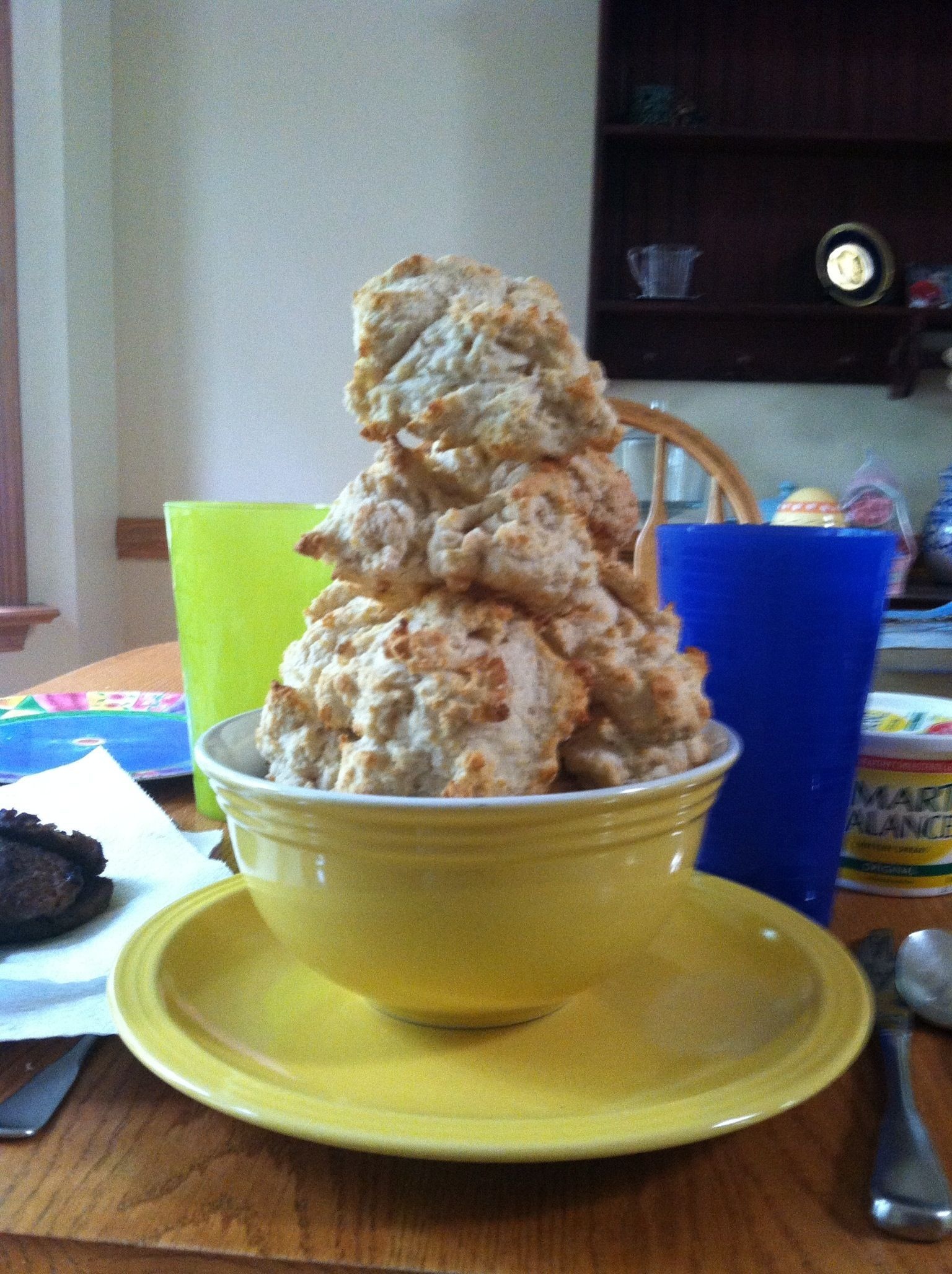 Leaning tower of biscuits:  a Biscuit & Gravy Tradition