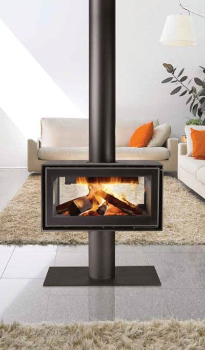 Pin By Italcotto Design Centre On Bisate Unit Furniture Wood Burning Stoves Living Room Freestanding Fireplace Standing Fireplace
