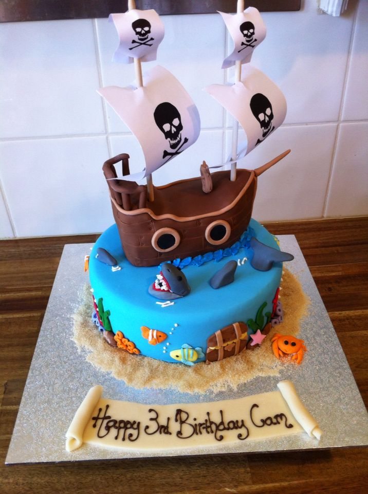 Pirate Ship Childrens Birthday Cake I Was Told By Little Mr Cam He