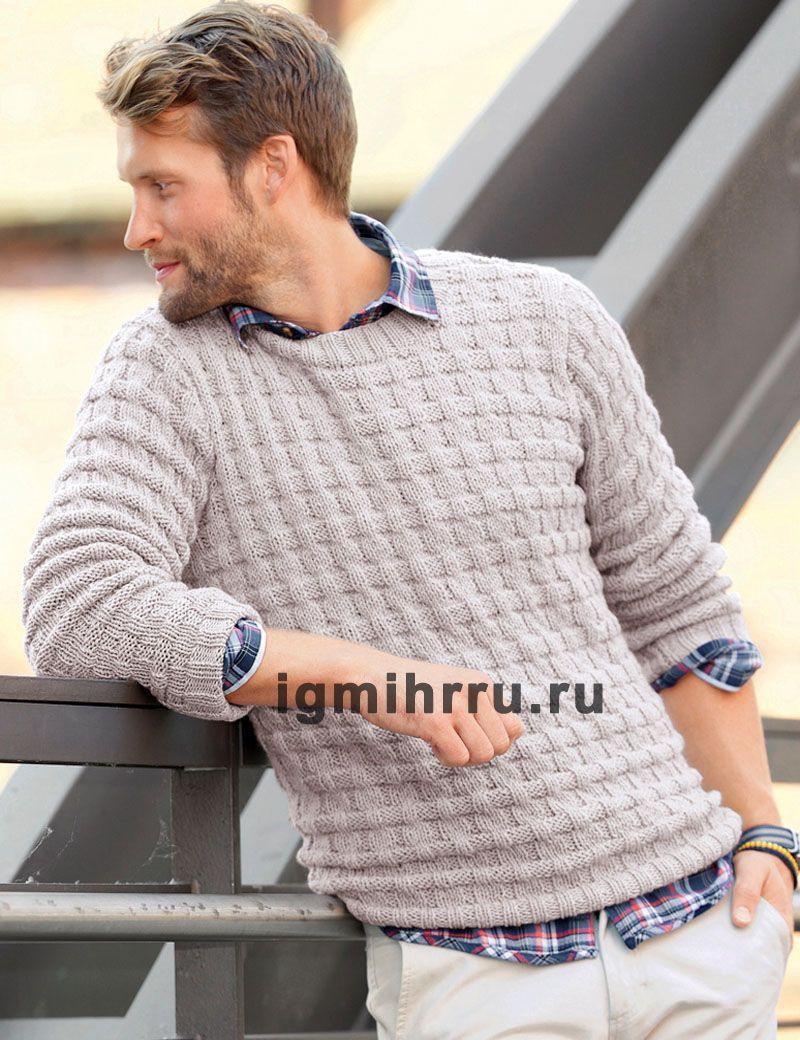 Вязание зимнего свитера спицами