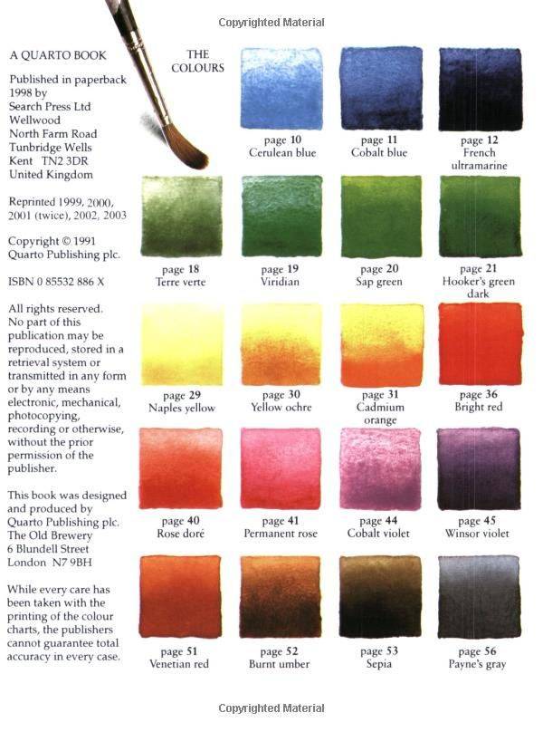 Watercolour Painter S Pocket Palette Amazon Co Uk Moira Clinch