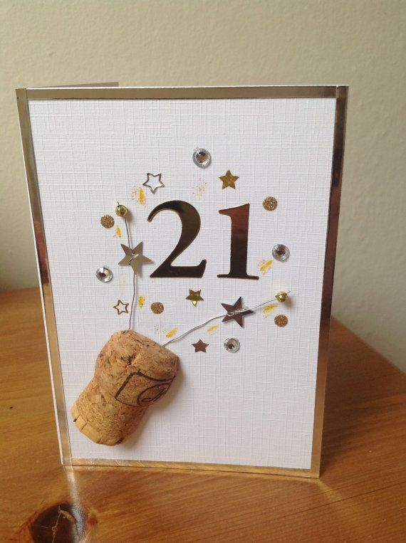 Superb 21st Birthday Card Making Ideas Part - 6: 21st Birthday Card Champagne Celebrations By PlumBelleCards