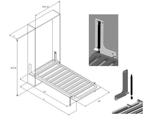 Imagen muebles camas camas abatibles y cama plegable - Mecanismo para camas abatibles ...
