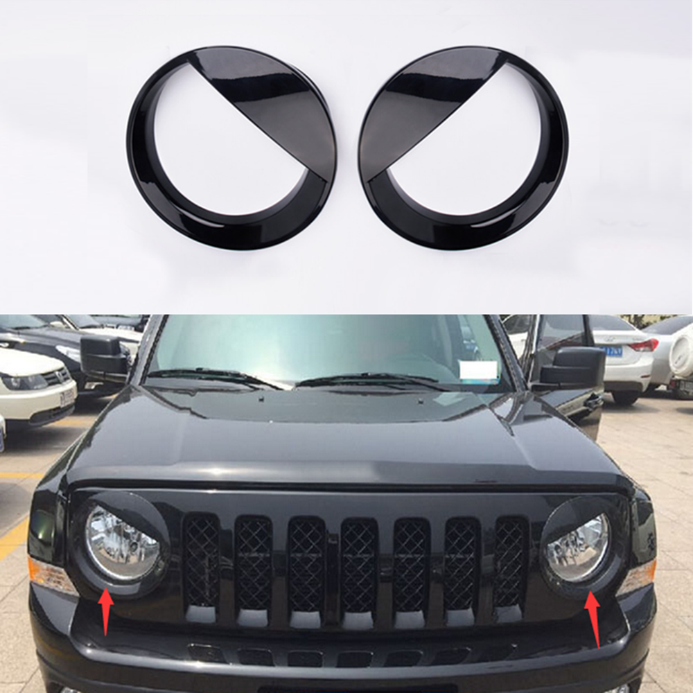 Abs Black Head Light Lamp Cover Trim For Jeep Patriot 2011 2012 2013 2014 2015 Jeep Patriot Jeep Patriot Accessories Jeep