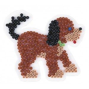 Pin plate, dog, puppy, 11.5×13 cm, HAMA Midi beads