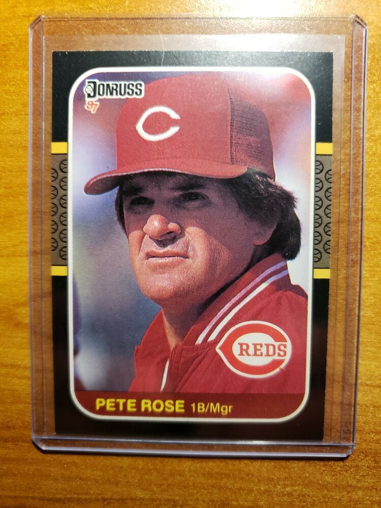 Pete Rose 1987 Donruss Baseball Card 186 Reds Phillies Player Manager Star Cincinnatireds In 2020 Baseball Cards Pete Rose Phillies