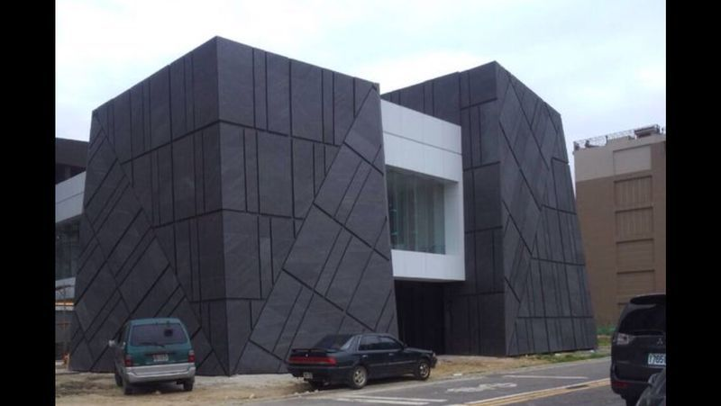 Michael Thronson Masonry Thin Stone Veneer Projects And: A Facade Made With Slate-Lite, The Paperthin Real Stone