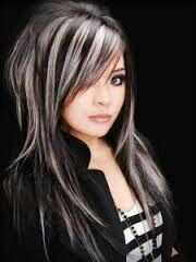Punk Rock Type Hair Dark Brown Black With Platnum Highlights Some Reason I