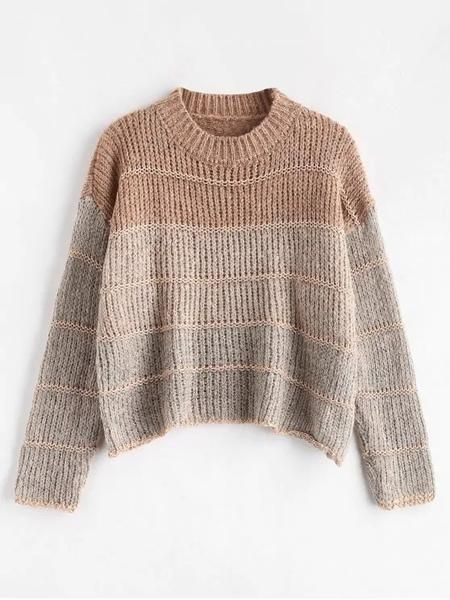 Type:PulloversStyle:CasualFit Type:LooseLength:ShortCollar:Crew CollarSleeves Length:FullMaterial:CottonElasticity:Micro-elasticWeight:0.3800kgPackage:1 x Sweater #knittedsweaters