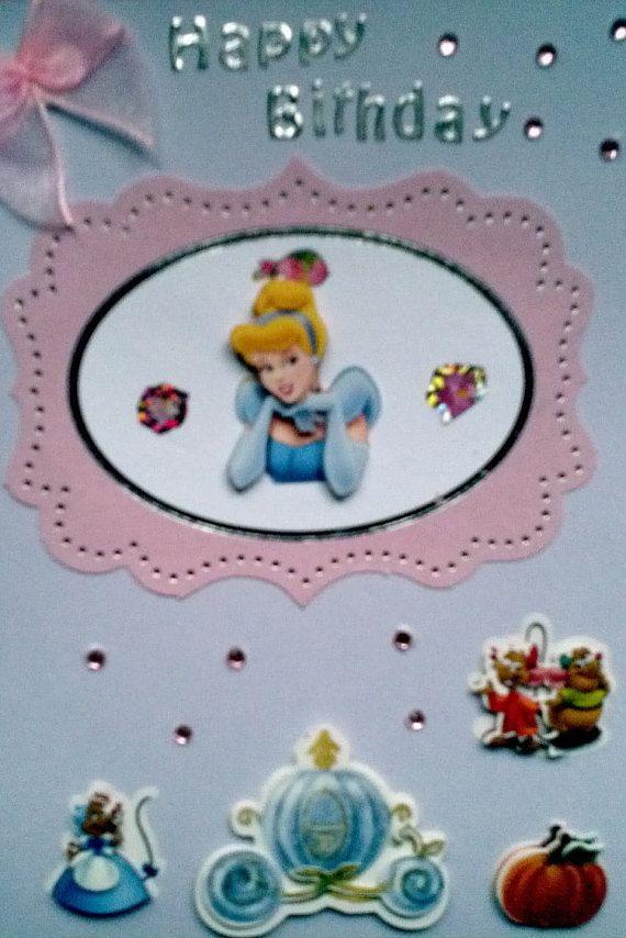 Cinderella Sweet Pink Disney Happy Birthday Card Disney