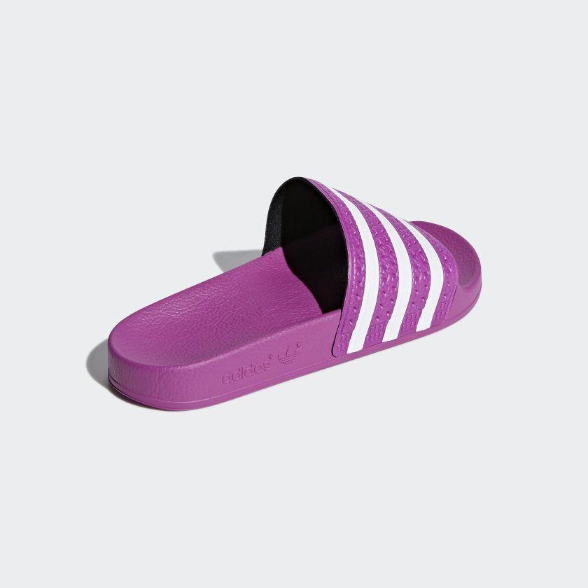 pink adidas slip on