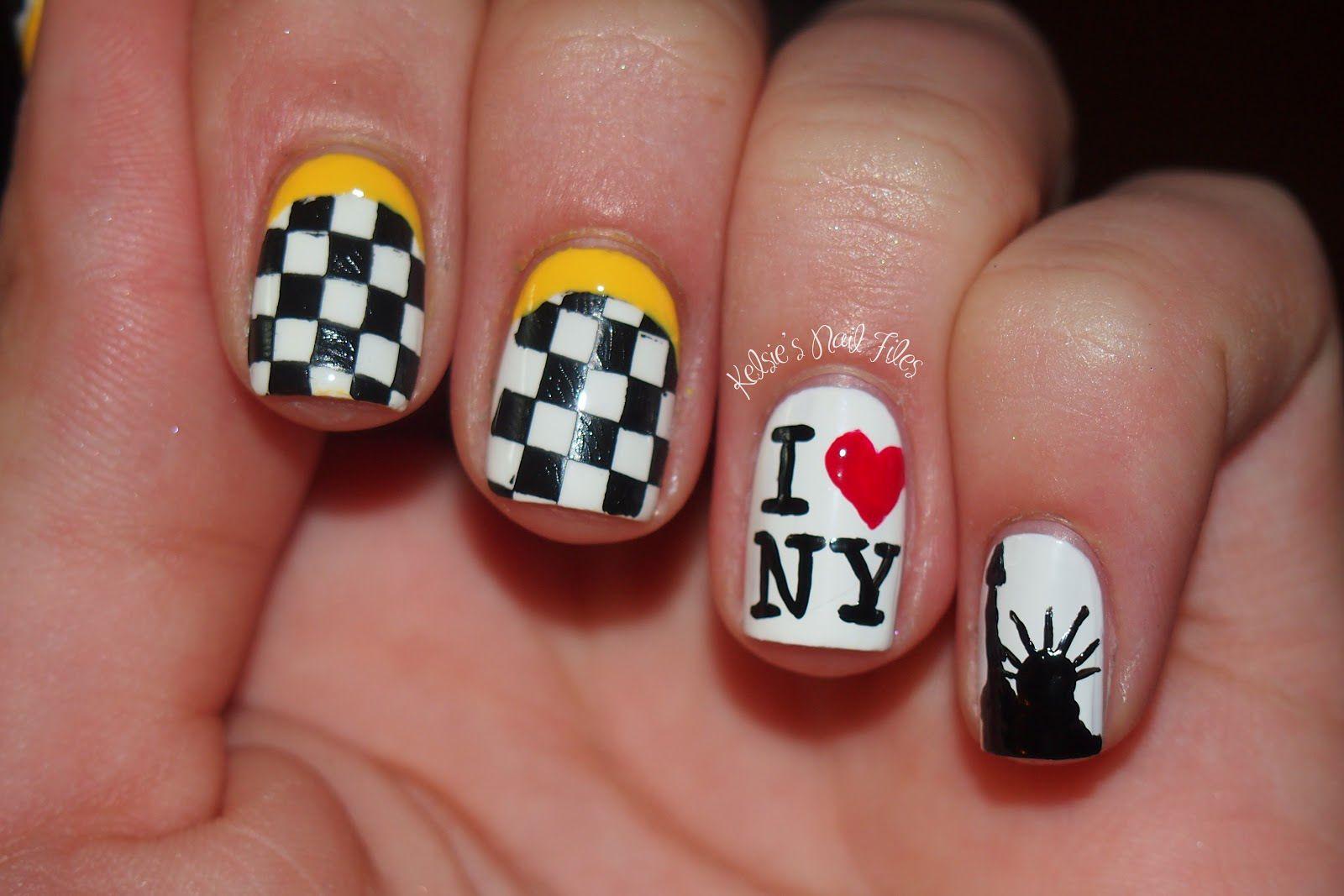 NYC inspired Nail Art