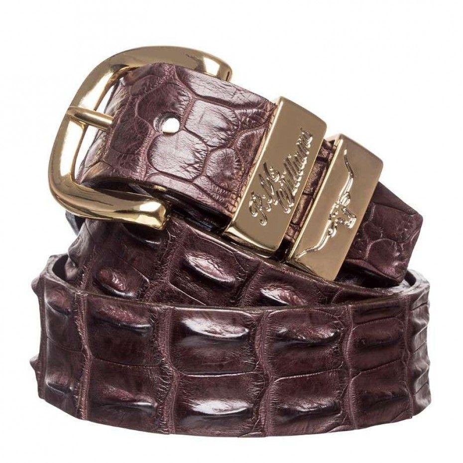rm williams crocodile belt chestnut 300 a crocodile leather belt