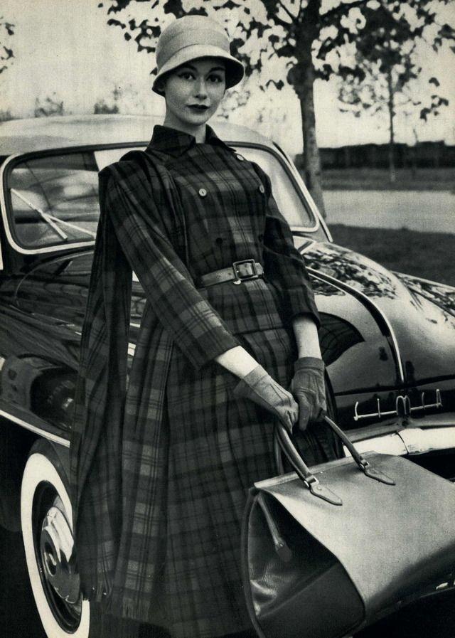 Plaid Fashion Travel Bag 1956