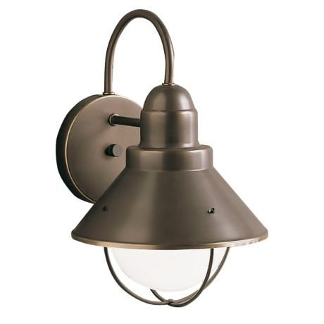 Kichler Seaside 12 High Outdoor Wall Light 39561 Lamps Plus Outdoor Sconces Outdoor Barn Lighting Outdoor Wall Lantern