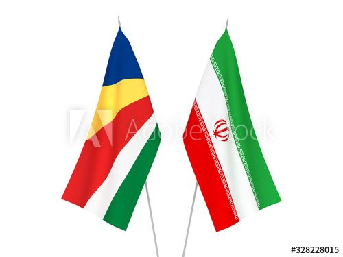 Seychelles and Iran flags #Ad , #Sponsored, #Seychelles, #Iran, #flags