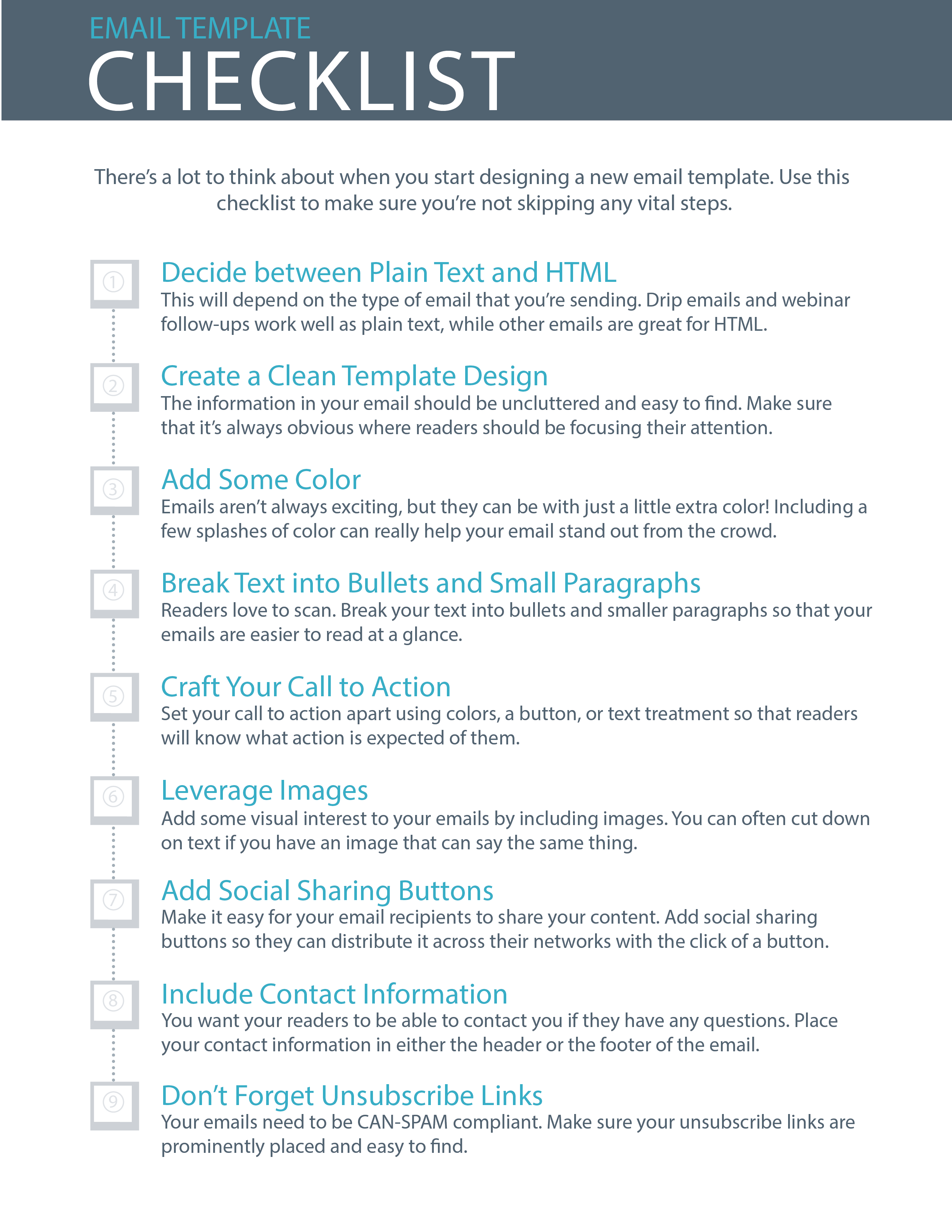 9 Essential Steps To Email Template Design Checklist
