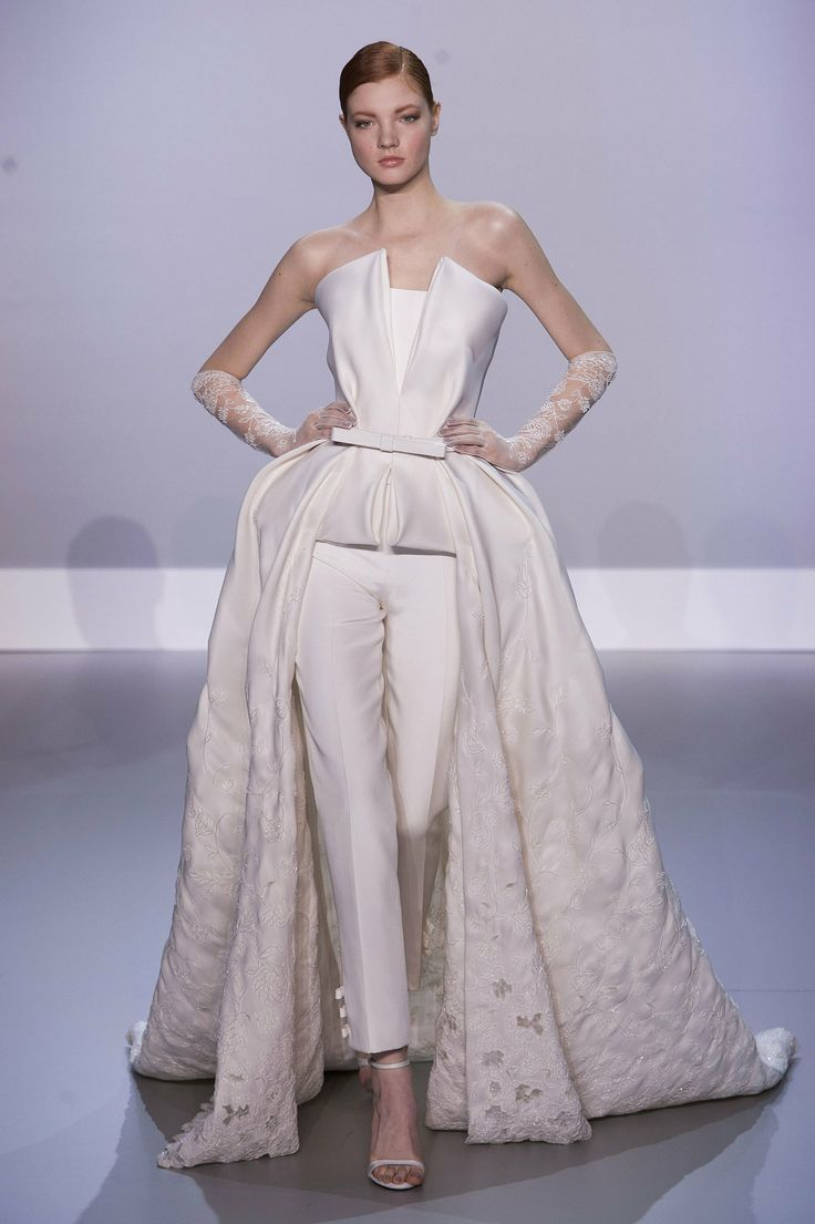 ralph russo fashion | Wedding Pant Suits for Brides Reminds of a ...