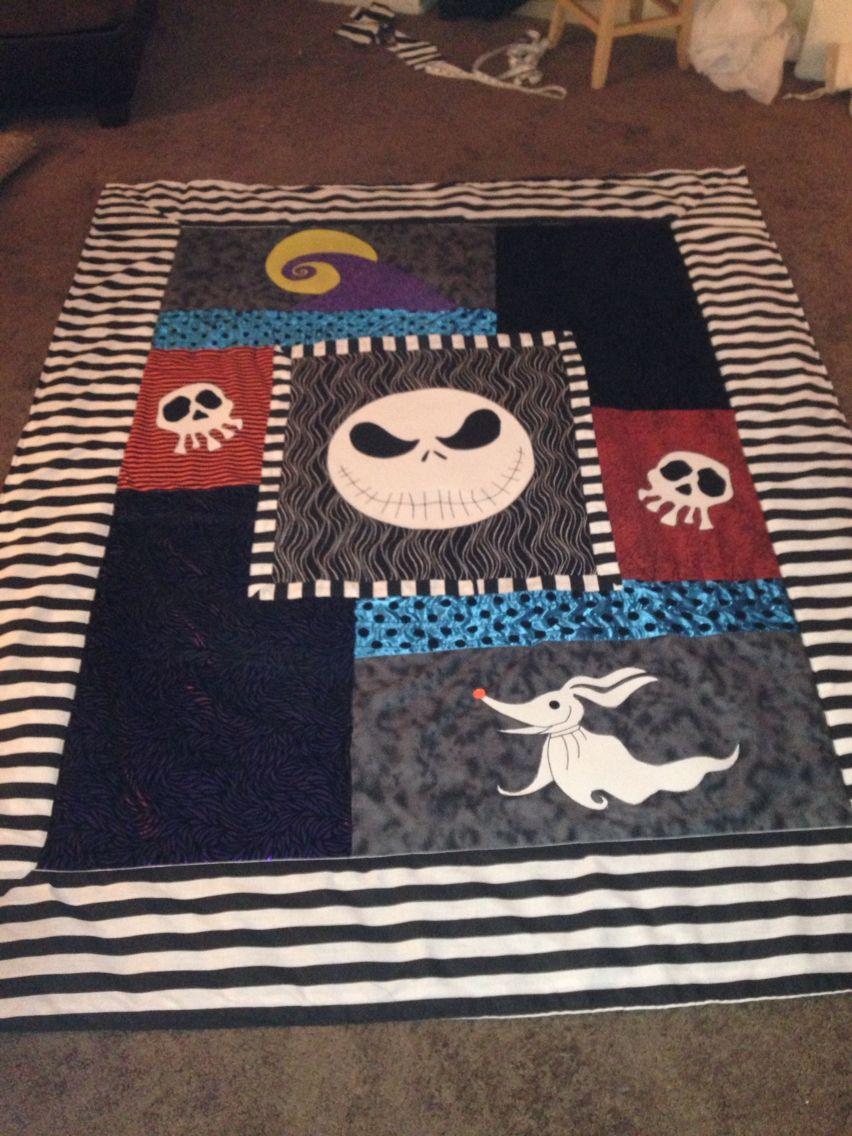 Handmade Nightmare Before Christmas quilt custom order for Christmas ...