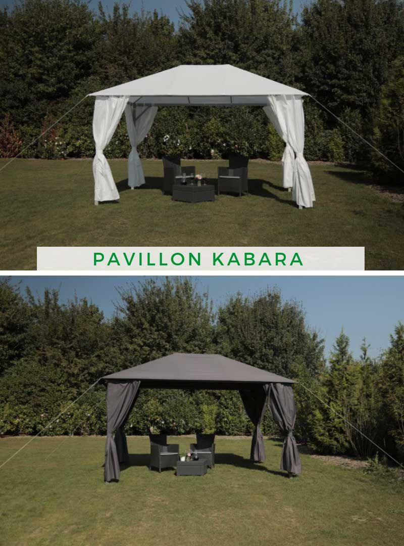 Pavillon Kabara Weiss Pavillon Holz Pavillon Stabiler Pavillon