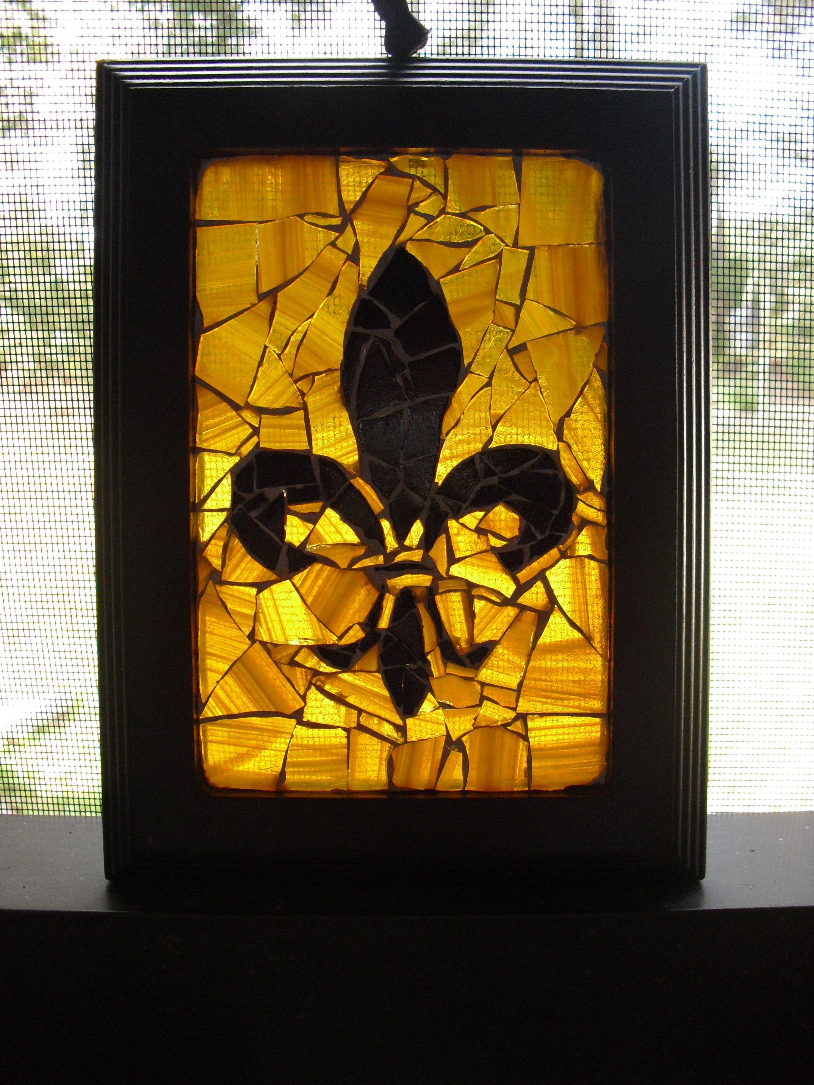 Fleur de Lis mosaic by my sweet friend Michelle! | Art | Pinterest ...