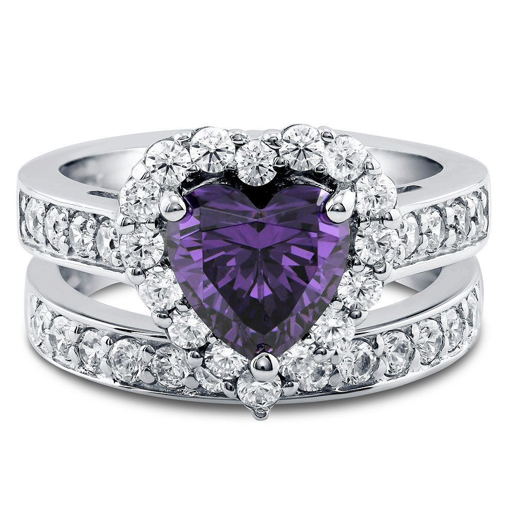 Details about BERRICLE Sterling Silver Heart Shaped CZ