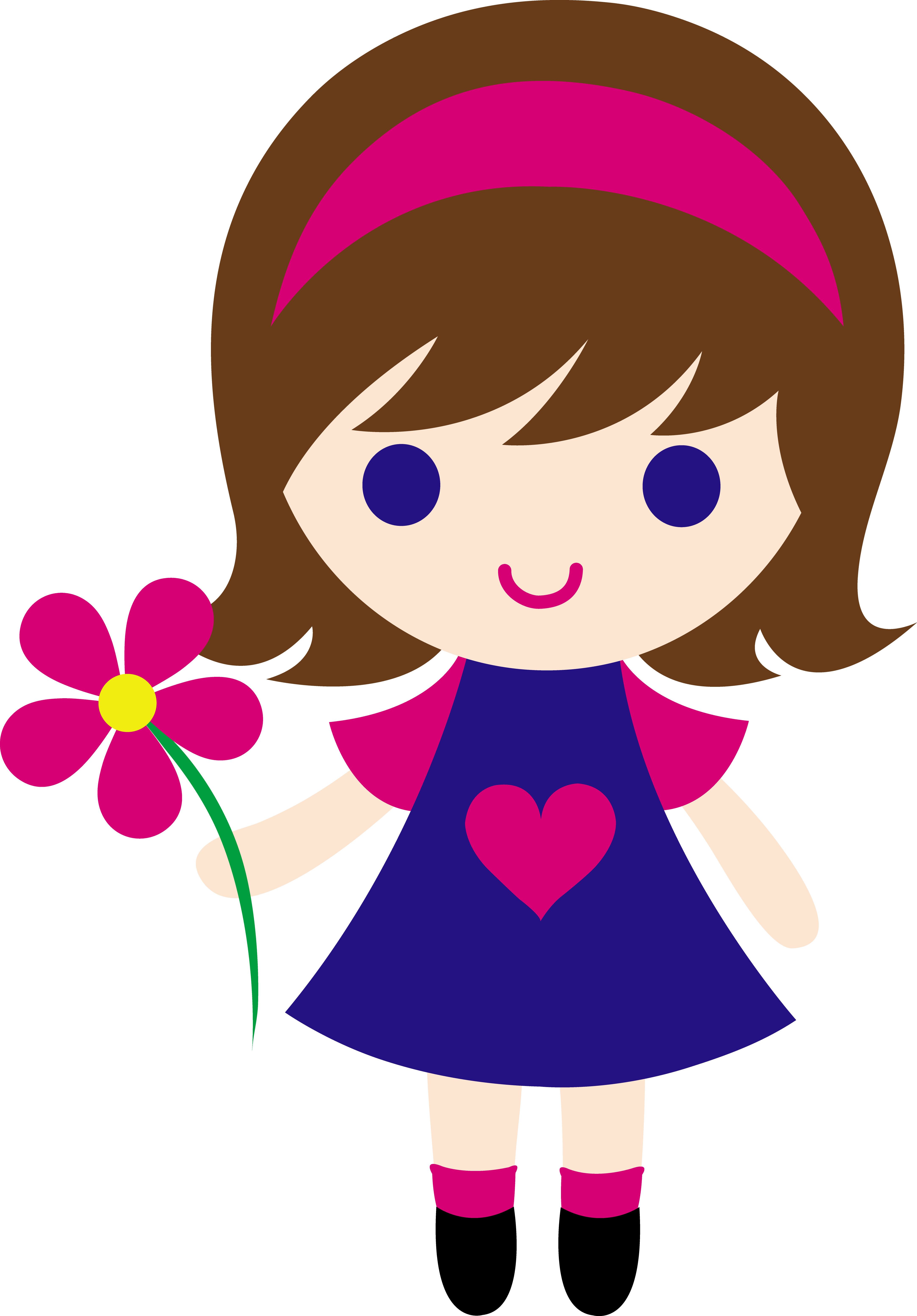 my clip art of a little girl holding a pink daisy sweet clip art rh pinterest com clipart of a girl drawing clipart of a girl stagecoach
