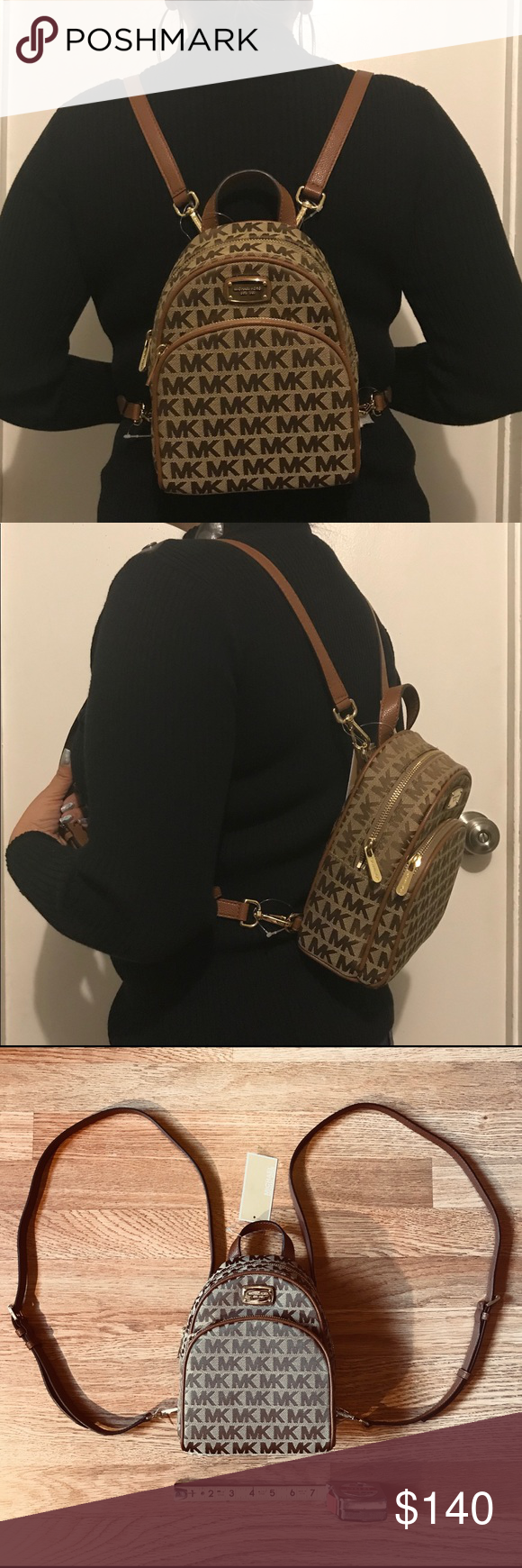 49aa857e43bcde NWT Michael Kors Abbey XS Mini Backpack in Beige Michael Kors Abbey XS  Backpack in Beige • New with tag • 100% authentic • UPC #38H7YAYBOJ •  Approx.