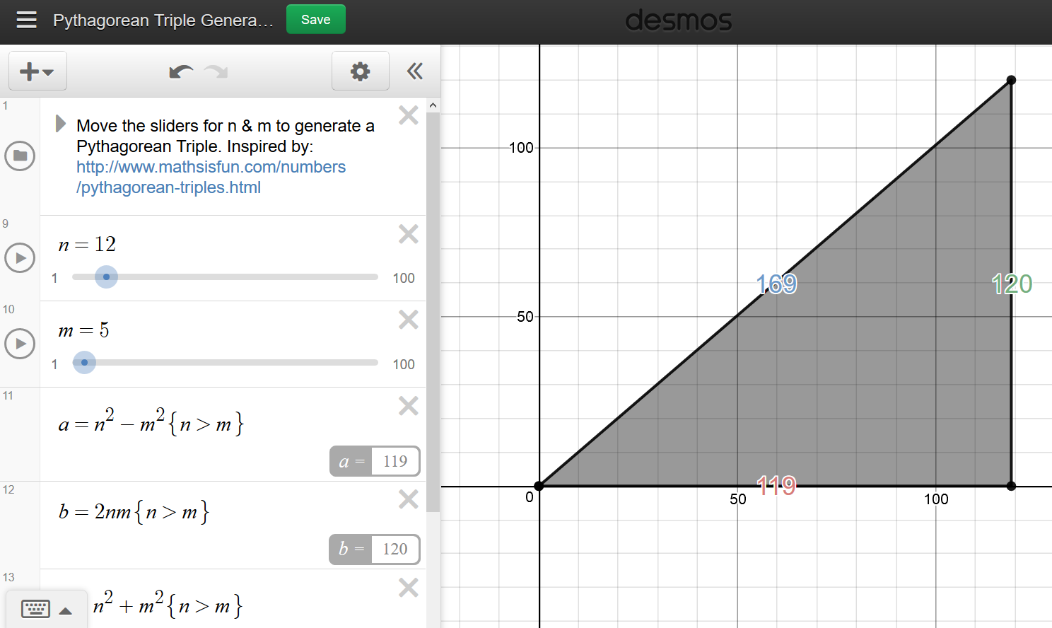 Desmos File That Allows You Do Dynamically Generate