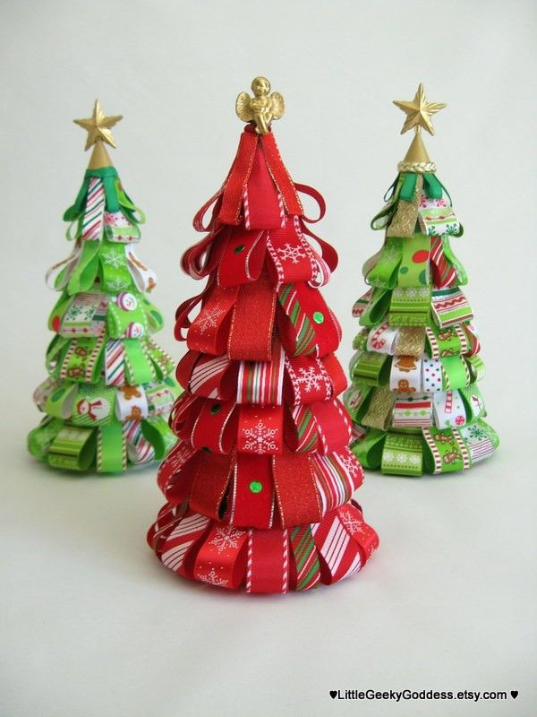 Christmas Ribbon Tree Christmas Tree Crafts Christmas Crafts Christmas Ribbon