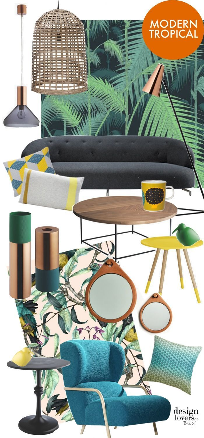 Moodboard modern tropical interior design design lovers blog