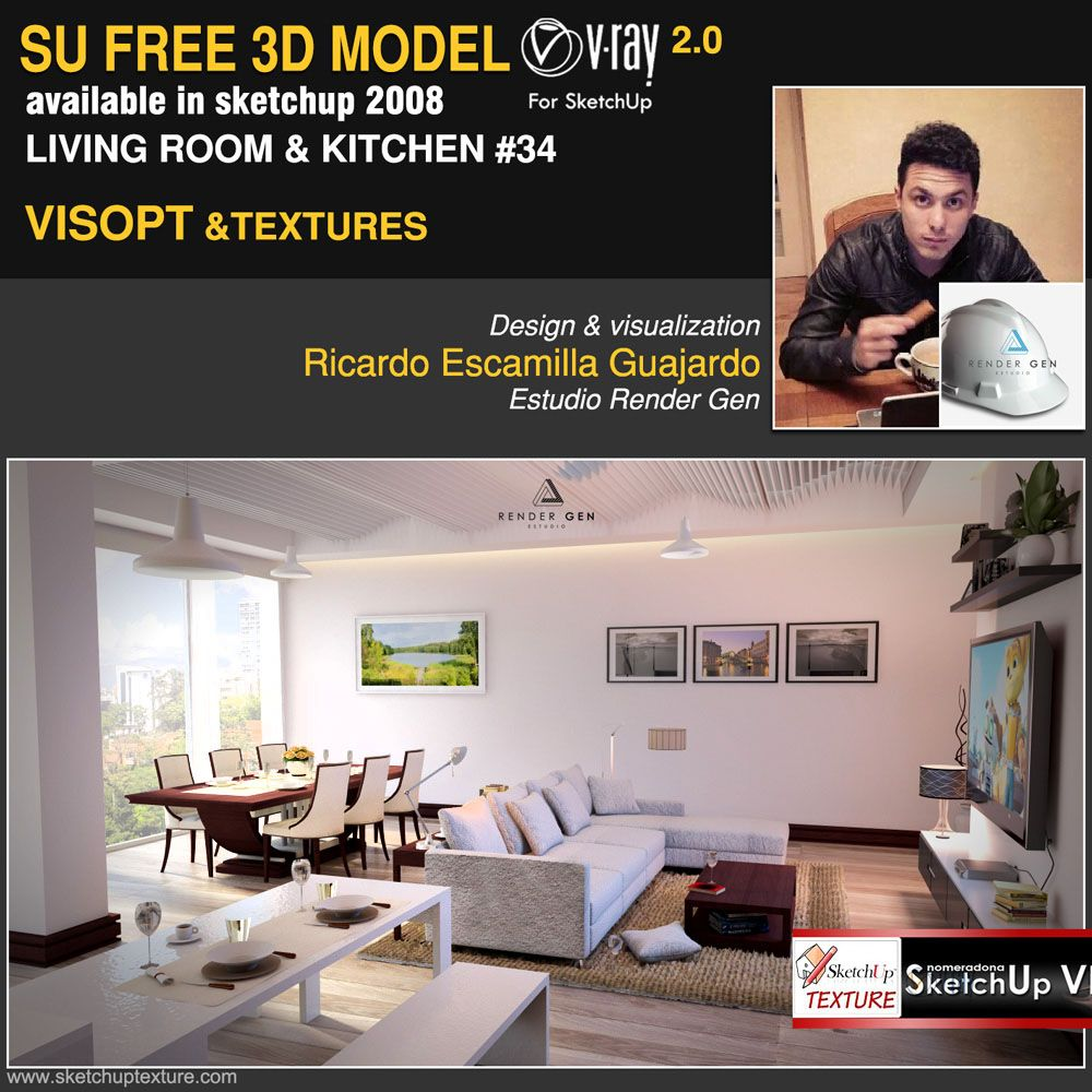 fantastic FREE SKETCHUP 3D MODEL modern living