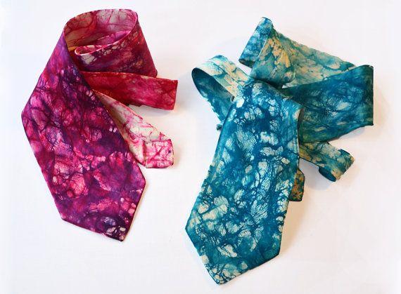 Silk Batik Neckties by Bitscarves