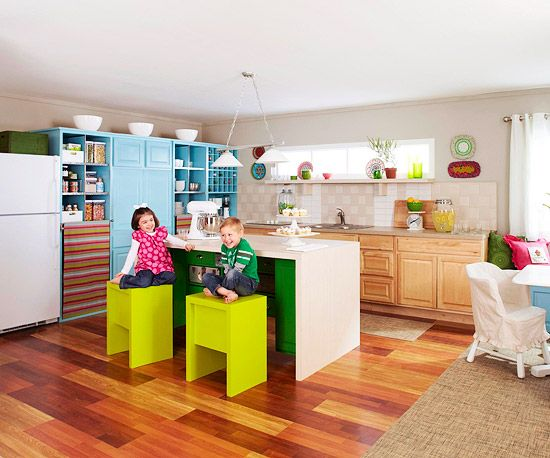 Home Design Ideas Pictures: A Colorful, Storage-Savvy Kitchen Makeover From Salvaged