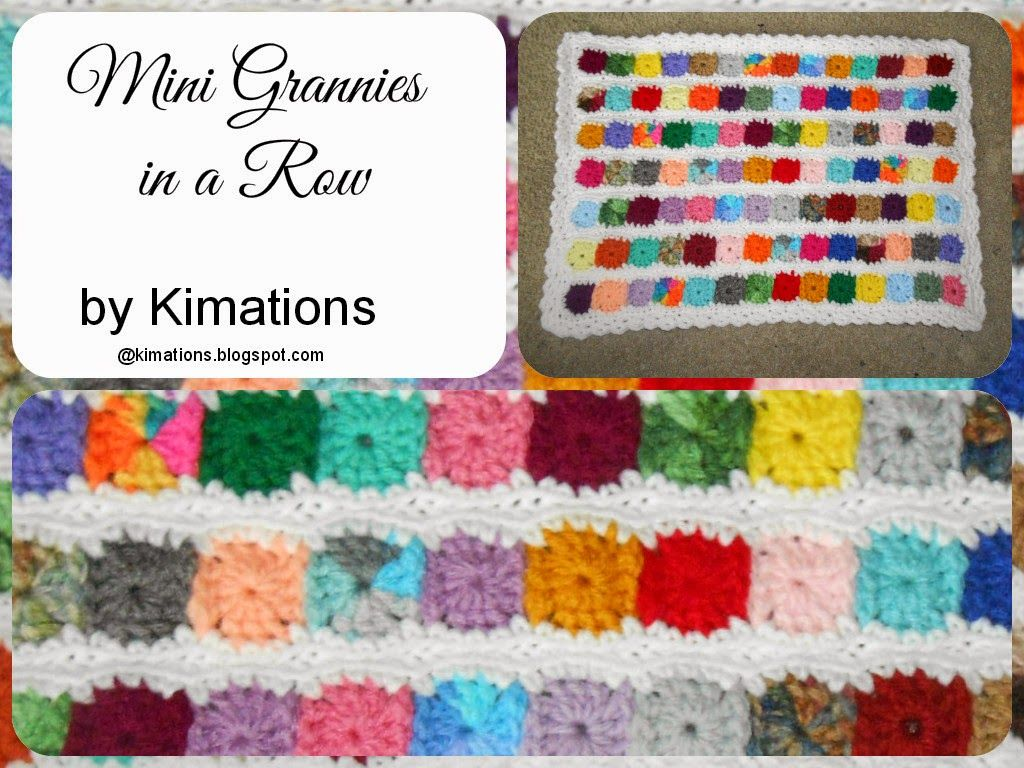 Kimations: Mini Grannies in a Row - free crochet pattern by Kimberly ...