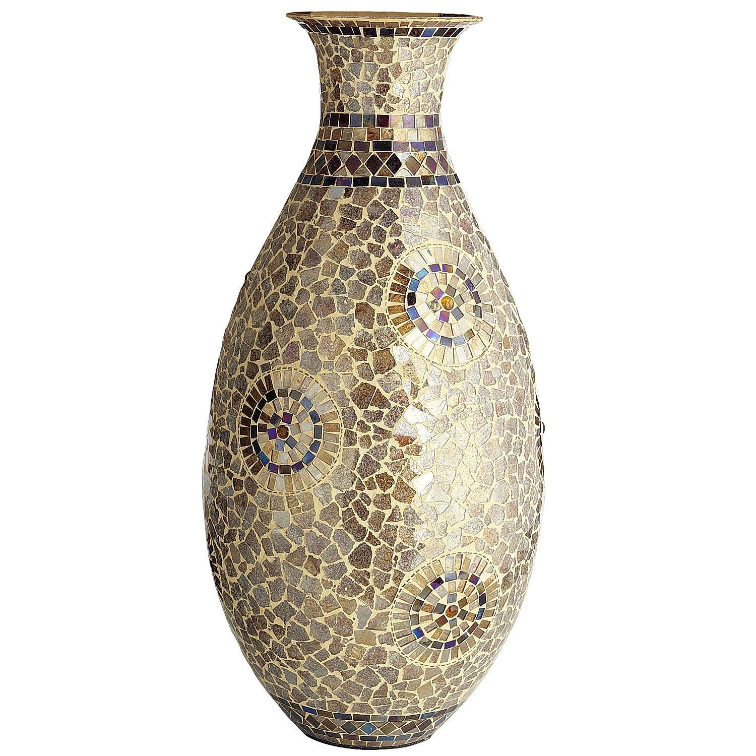 Bright vases trays dishes aroma lamps mirrors in beautiful frames - Mosaic Vase Champagne Gold
