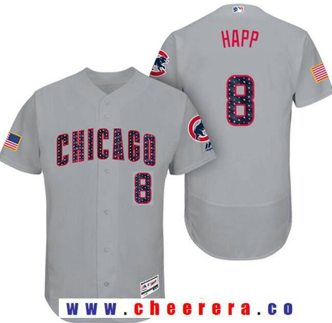 035b1c9b94e get 8 ian happ mens chicago cubs gray 2017 independence day stars stripes  stitched mlb c03b1