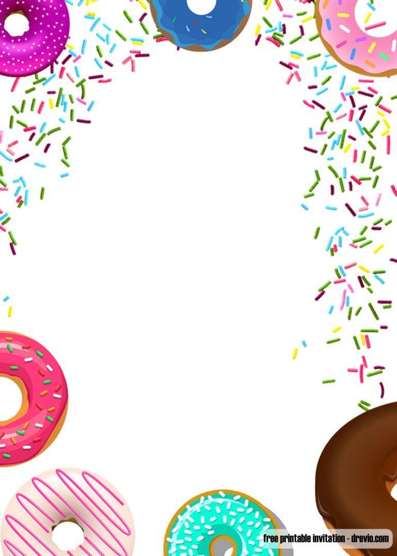 Free Printable Donuts And Pajamas Invitation Templates Birthday Party Invitations Free Donut Birthday Party Invitations Printable Birthday Invitations
