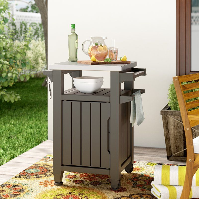Cambron Bar Serving Cart See More By Andover Mills For Outdoor Fireplace Area Outdoor Patio Bar Sets Patio Bar Set Outdoor Wood Bar