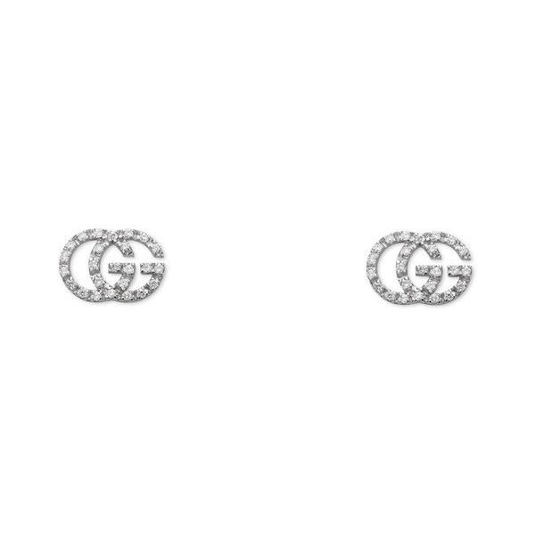 8001a3fd1 Gucci Gg Tissue Stud Earrings ($2,055) ❤ liked on Polyvore featuring jewelry,  earrings, accessories, fine jewellery, women, chain earrings, gucci earrings,  ...