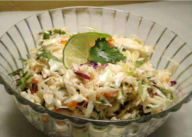 Mexican Coleslaw With Spicy Lime Vinaigrette #asadatacos