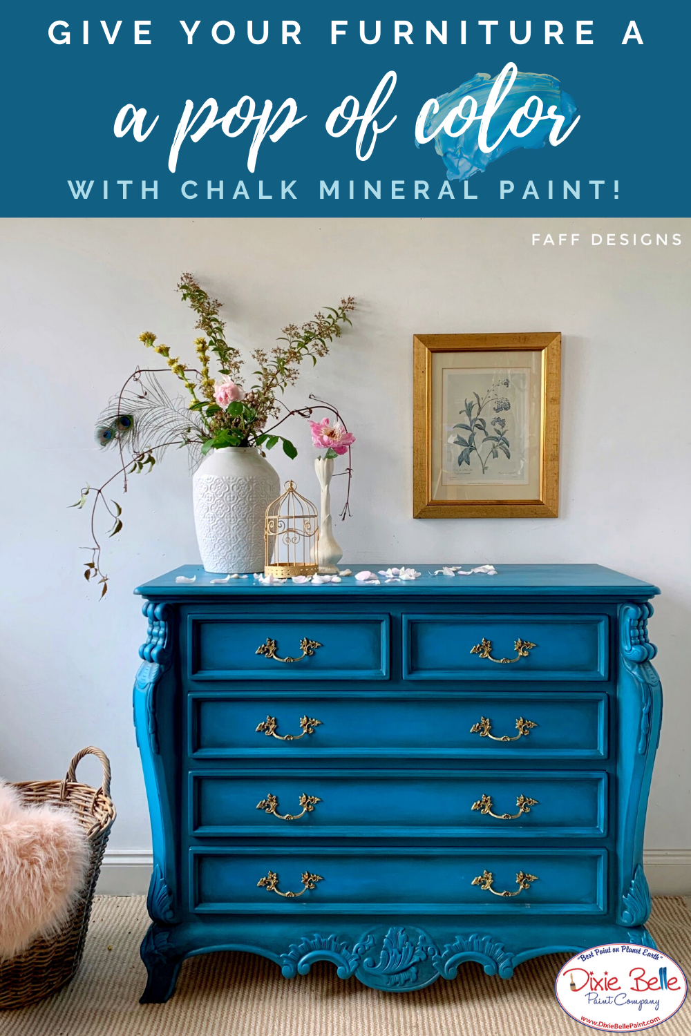 Pin on Amazing Blue Painted Furniture Dixie Belle Chalk