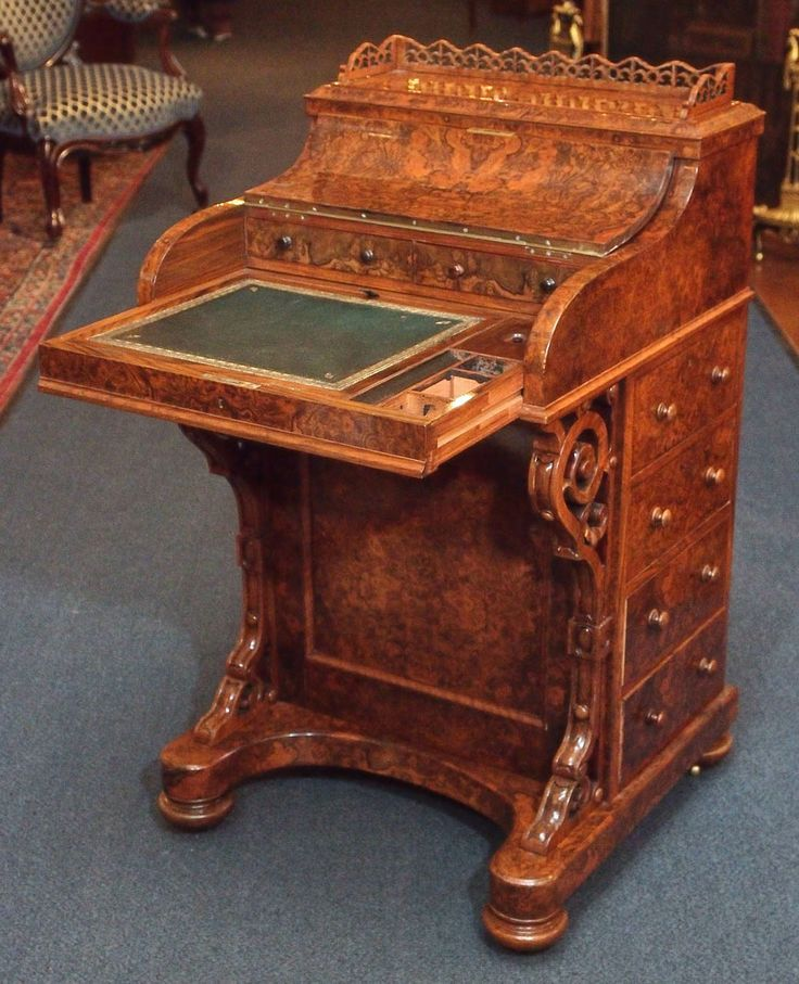 14 Best Davenport Or Captainu0027s Desk Images On Pinterest | Antique Furniture,  Desk Plans And Antique Desk