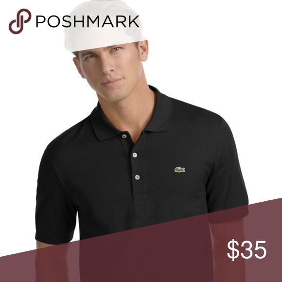 Lacoste Men S Black Polo Shirt Sz 7 Xxl Lacoste Men S Black Polo Shirt In Sz 7 Which Is Equal To A Men S Size Xxl Excellen Black Polo Shirt Lacoste Men Men